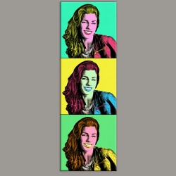 Andy Warhol 01 Tableau portrait de 3 photos maxi