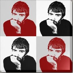 Pop art noir et rouge graphik4k