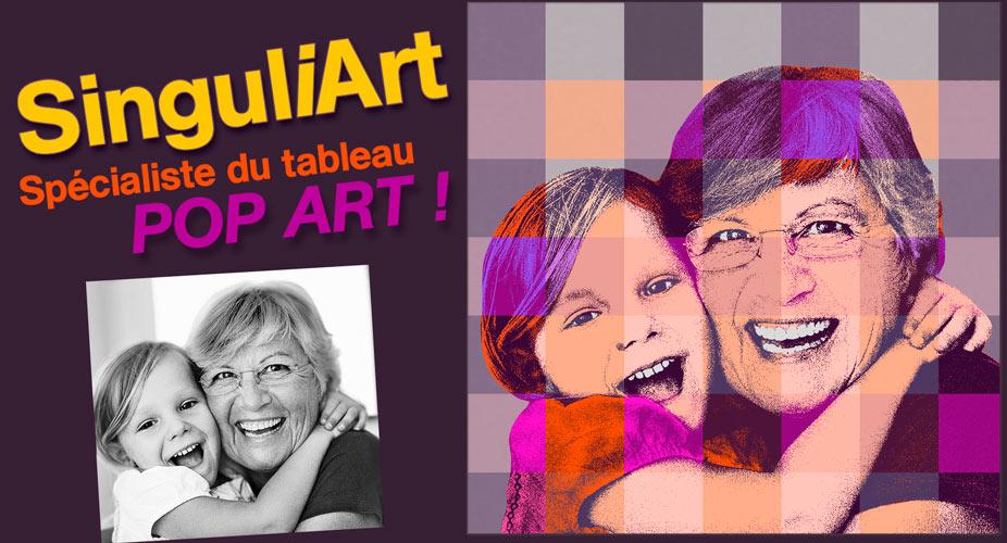 Offrez un tableau Pop Art original à votre grand-mamie !