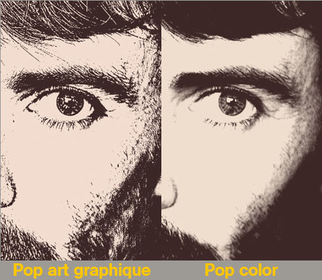 Comparaison Pop color et Pop art