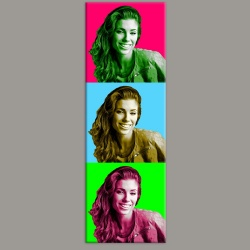 Pop Color 20 Tableau portrait de 3 photos maxi
