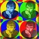 Pop Art deco avec Cercles personnalisable très coloré