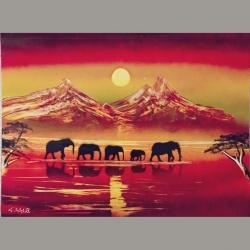 Elephants 01 30x40cm