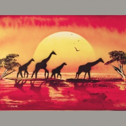 Giraphes 01 30x40cm
