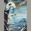 Arbre sur lune 01 30x40cm