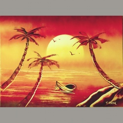 Coucher de soleil 02 30x40cm