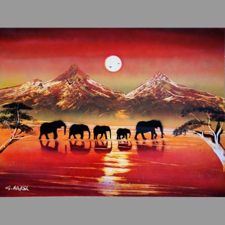 Elephants B01 30x40cm