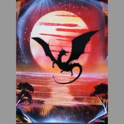 Dragon volant B01 30x40cm